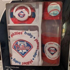 Phillies Baby Bottle, Pacifier & Bib set